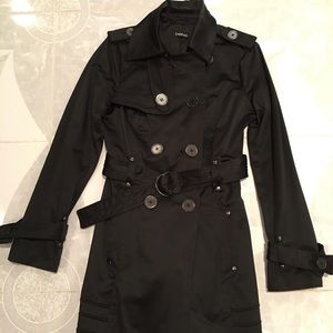 Trench Coat W/Belted Details on Sleeves